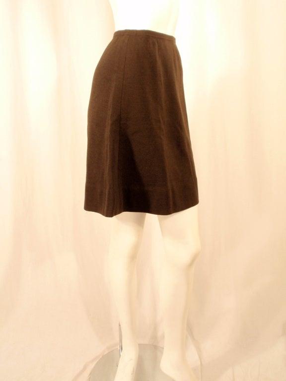Rudi Gernreich Vintage Brown Wool Knit Mini Skirt 6