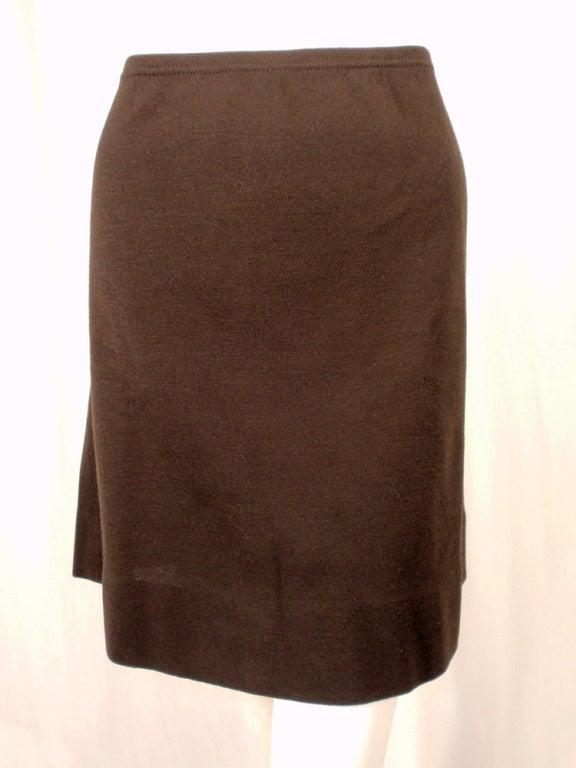 Rudi Gernreich Vintage Brown Wool Knit Mini Skirt 7