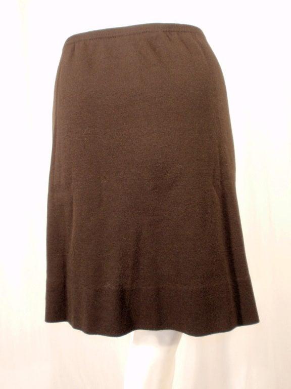 Rudi Gernreich Vintage Brown Wool Knit Mini Skirt 8