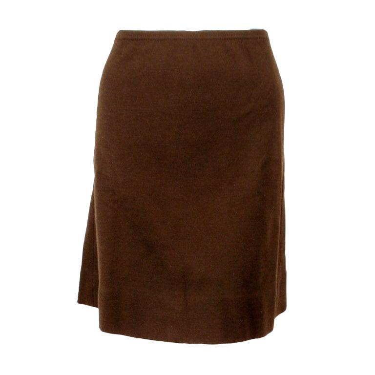 Rudi Gernreich Vintage Brown Wool Knit Mini Skirt 1