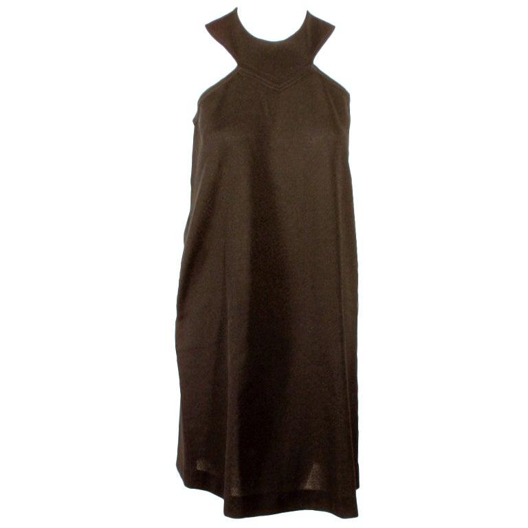 Rudi Gernreich Black Wool Knit Sleeveless Mini Dress, 1960's