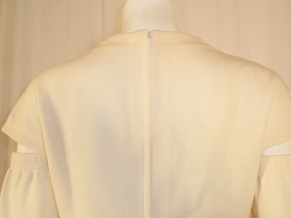 Rudi Gernreich White Wool Knit Tunic Dress w/ Leg & Arm Warmers 10