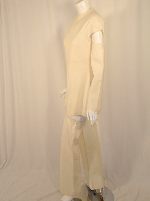 Rudi Gernreich White Wool Knit Tunic Dress w/ Leg & Arm Warmers 3