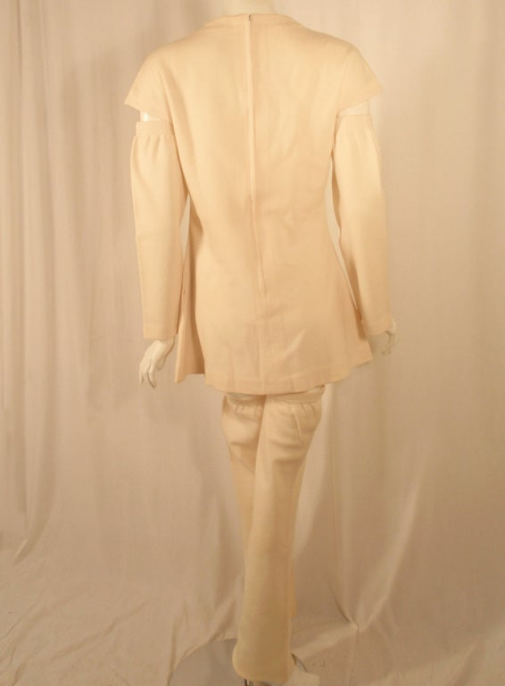 Rudi Gernreich White Wool Knit Tunic Dress w/ Leg & Arm Warmers 4