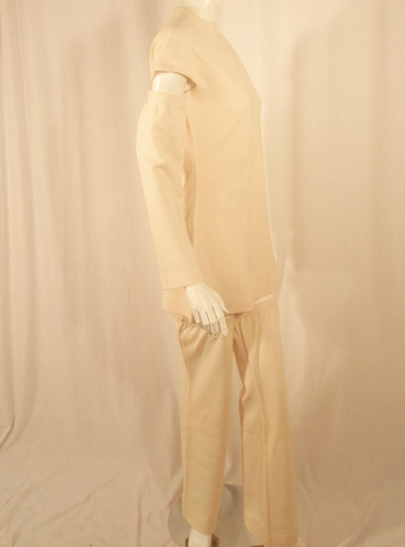 Rudi Gernreich White Wool Knit Tunic Dress w/ Leg & Arm Warmers 5