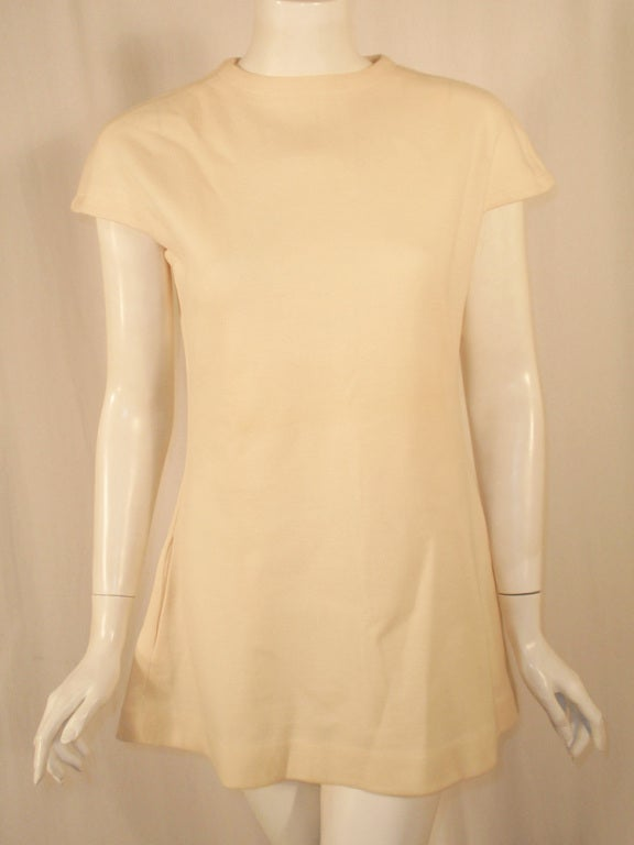 Rudi Gernreich White Wool Knit Tunic Dress w/ Leg & Arm Warmers 6