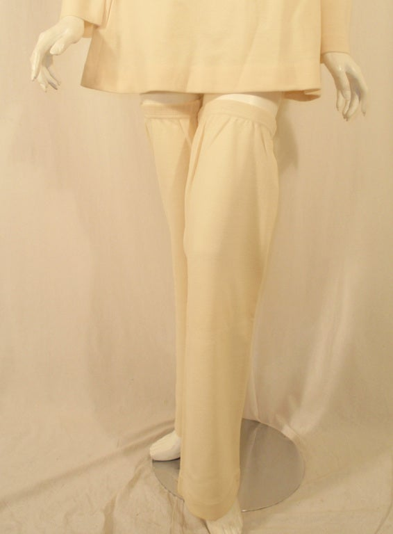 Rudi Gernreich White Wool Knit Tunic Dress w/ Leg & Arm Warmers 9
