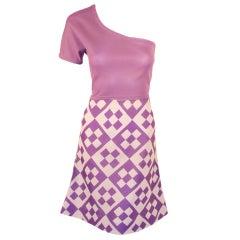 Rudi Gernreich Vintage 2 pc. White & Purple Top & Skirt Set