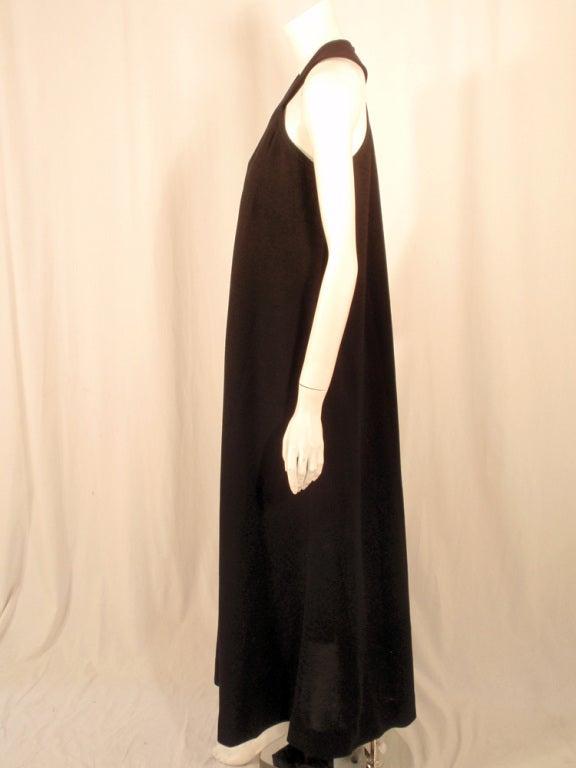 Women's Rudi Gernreich Black Wool Knit Sleeveless Long Gown For Sale