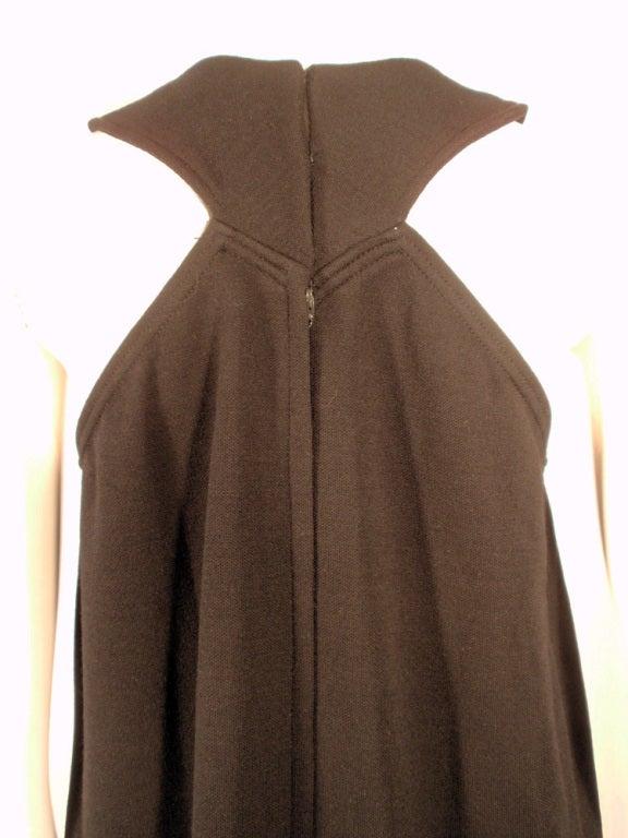 Rudi Gernreich Black Wool Knit Sleeveless Long Gown For Sale 4