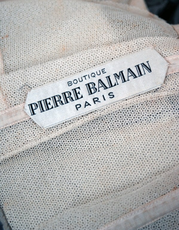 1950's Pierre Balmain Metallic Embroidered Organza Party Dress 7