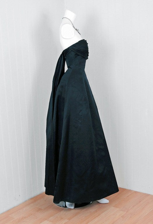 1950s givenchy black organza numberedcouture evening