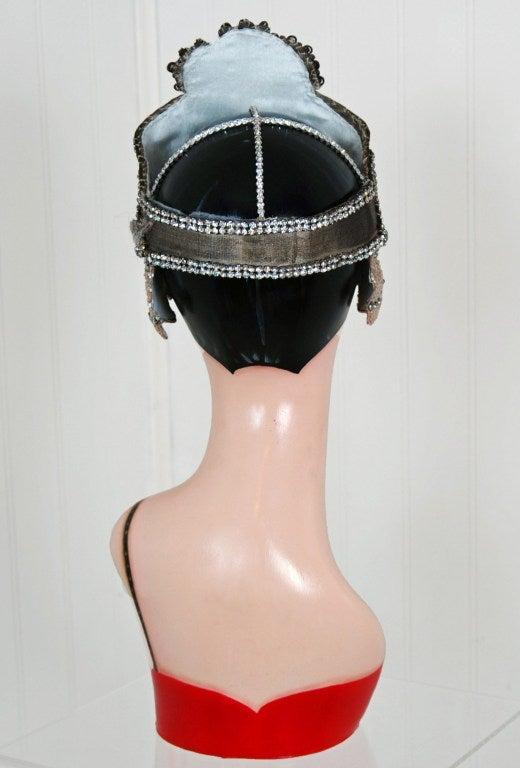 1920's Opulent Gold-Lame Rhinestone Beaded Headpiece 6
