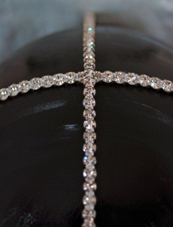 1920's Opulent Gold-Lame Rhinestone Beaded Headpiece 7