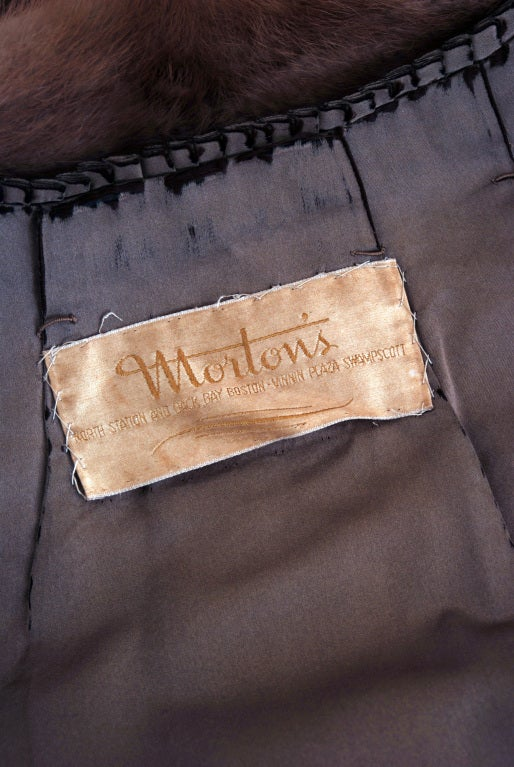 1950's Luxurious Rich-Brown Mink Fur Low-Plunge Bolero Jacket image 5