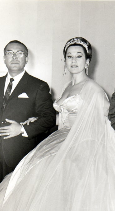 1950's Historical Yma Sumac Strapless Pink-Ombre Satin Gown image 7