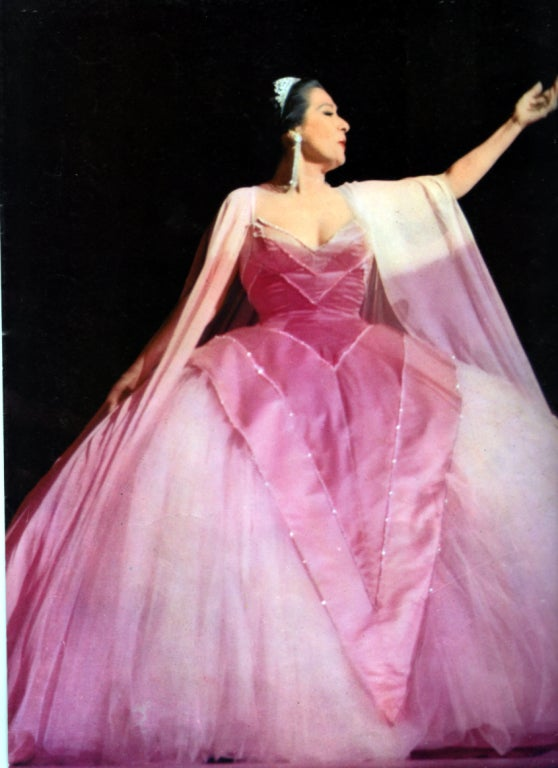 1950's Historical Yma Sumac Strapless Pink-Ombre Satin Gown image 6