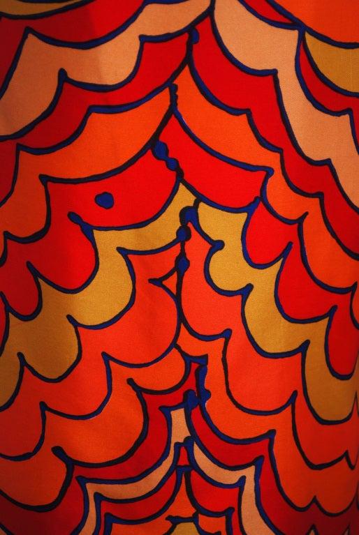1960's Pierre Balmain Op-Art Psychedelic Silk Mod Shift Dress 4