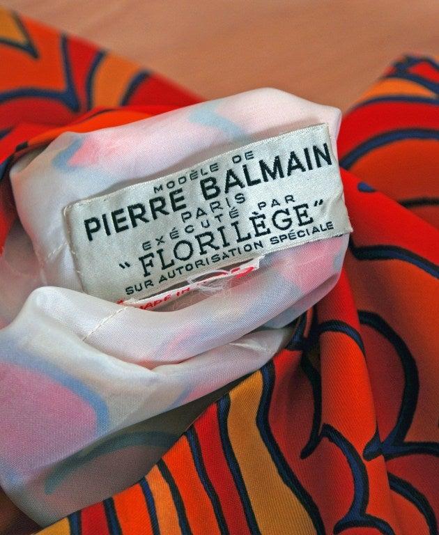 1960's Pierre Balmain Op-Art Psychedelic Silk Mod Shift Dress 6