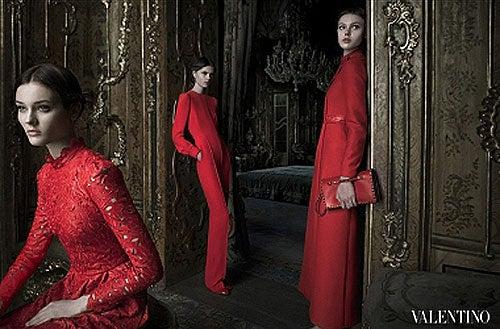 1990's Valentino Rare Black & Red Applique Cutwork Leather Skirt 4