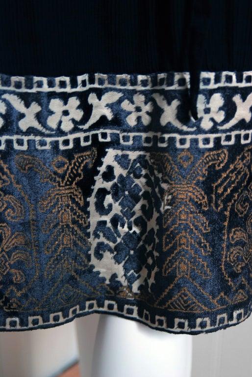 1920's Cecile et Lafontan Couture Asymmetric Grecian Silk-Chiffon Flapper Dress 5