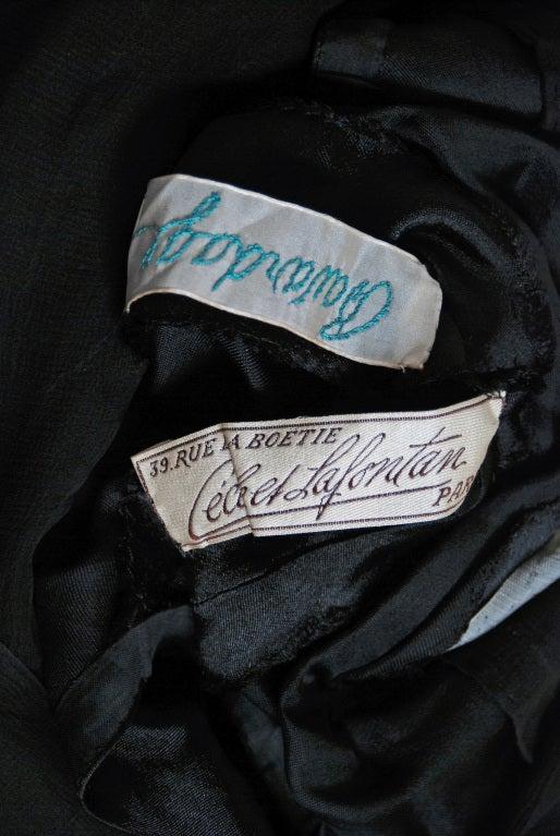 1920's Cecile et Lafontan Couture Asymmetric Grecian Silk-Chiffon Flapper Dress 7