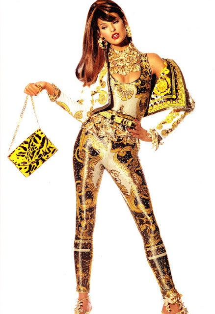 1991 Gianni Versace Couture Iconic Baroque Print Jacket 2