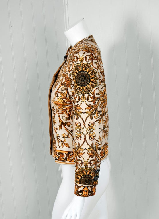 1991 Gianni Versace Couture Iconic Baroque Print Jacket 3