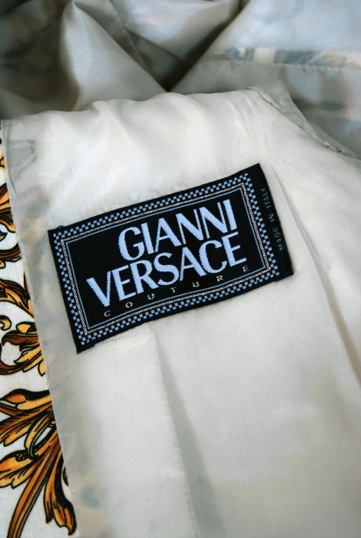 1991 Gianni Versace Couture Iconic Baroque Print Jacket 6