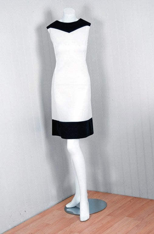 1960's Alfred Werber Red,White & Blue Mod Pleated-Coat Dress Set 3