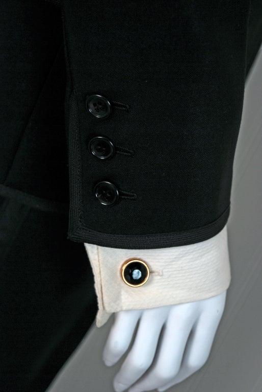 1967 Yves Saint Laurent Le Smoking Tuxedo Black Pants Jacket Suit Ensemble 4