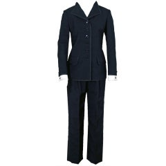 1967 Yves Saint Laurent Le Smoking Tuxedo Black Pants Jacket Suit Ensemble