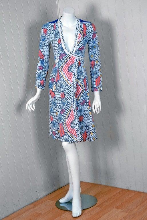 English fashion designer, Raymond Ossie Clark, was a leading light in the London