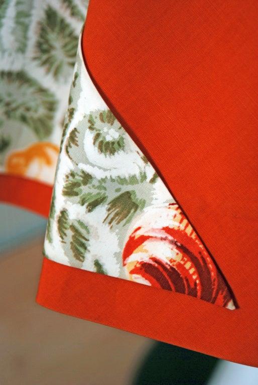1950's Italian Seashells Novelty Print Cotton Circle-Skirt Dress For Sale 1