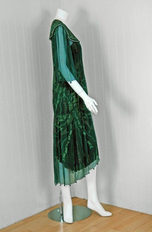 Green Chiffon Wrap Dress