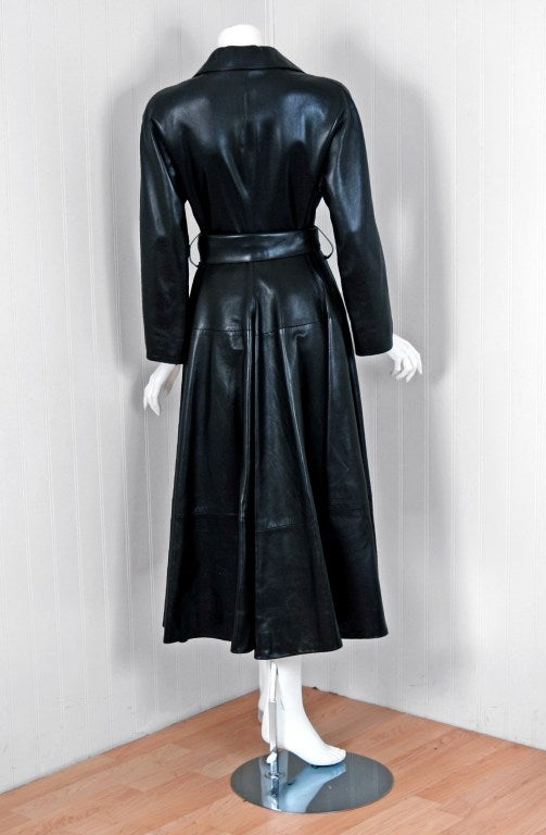 1990's Christian Dior Numbered Couture Leather Trench Coat image 5