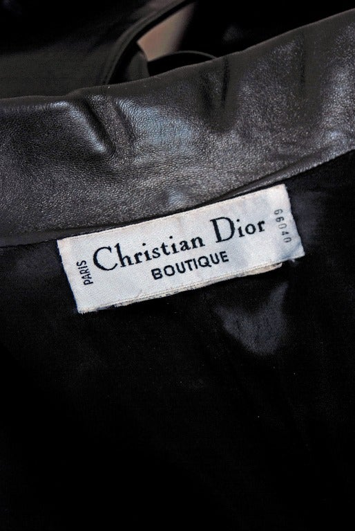1990's Christian Dior Numbered Couture Leather Trench Coat image 6