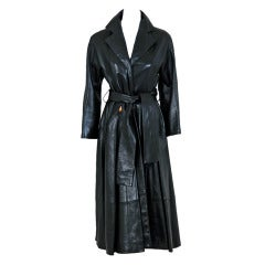 1990's Christian Dior Numbered Couture Leather Trench Coat
