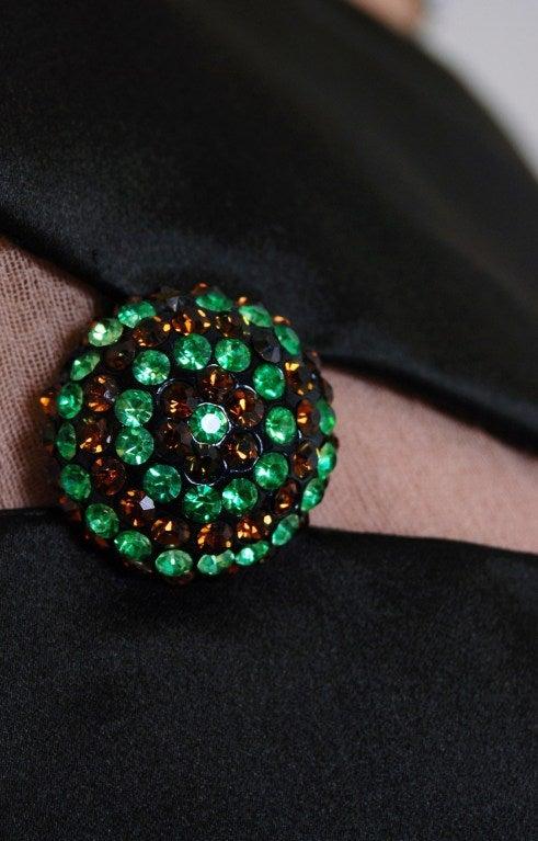 1960's Christian Dior Rhinestone Illusion Silk-Satin Mod Dress 4