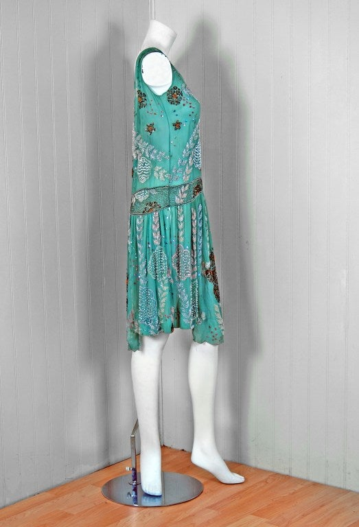 1920's Turquoise-blue