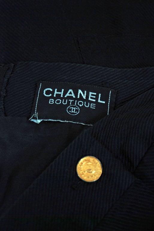 1990's Chanel Black Strapless Sailor-Style Hourglass Mini Dress 5