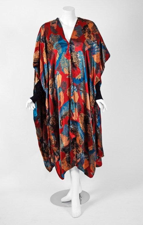 1990's Jean Paul Gaultier Iconic Print Silk & Knit Avant-Garde Caftan Jacket 2