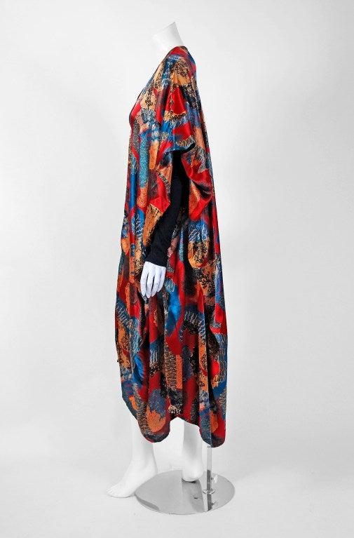 1990's Jean Paul Gaultier Iconic Print Silk & Knit Avant-Garde Caftan Jacket 3