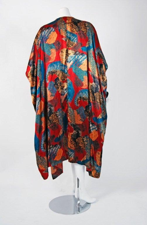 1990's Jean Paul Gaultier Iconic Print Silk & Knit Avant-Garde Caftan Jacket 5