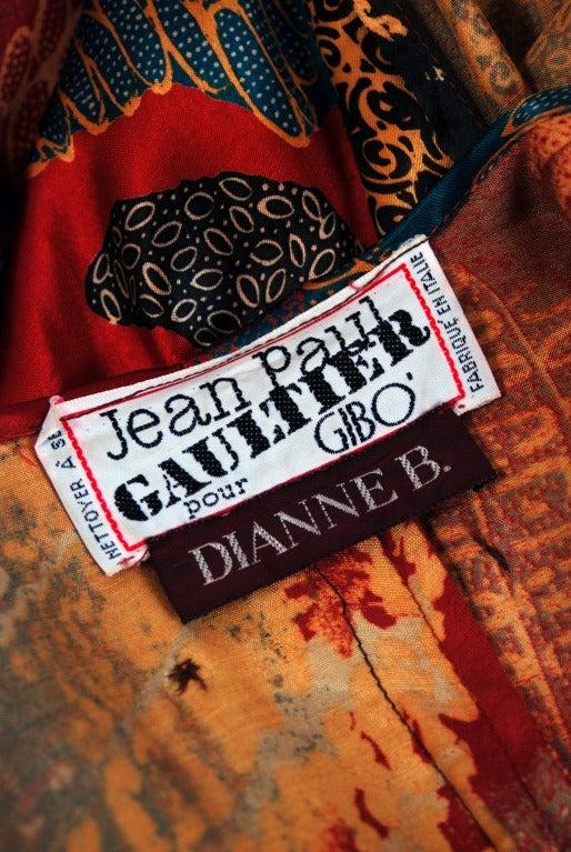 1990's Jean Paul Gaultier Iconic Print Silk & Knit Avant-Garde Caftan Jacket 6