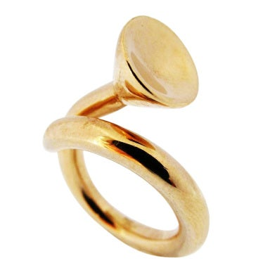 R Mapache The Golf Widow Gold Ring At 1stdibs