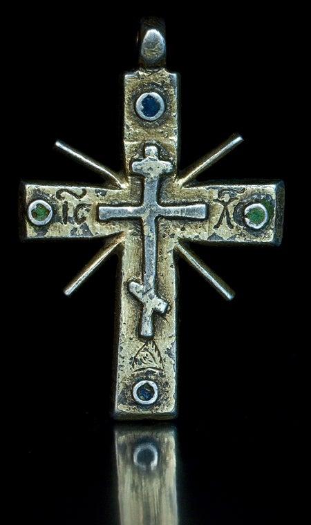 Medieval Russian Cross Pendant C 1550 At 1stdibs