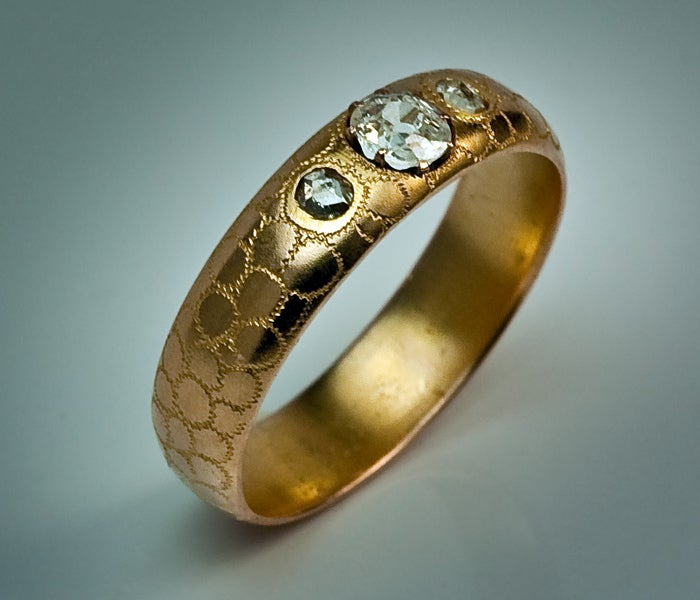 antique russian wedding ring image 2