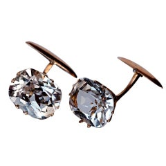 Antique Russian Rock Crystal Cufflinks