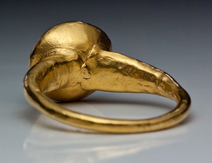10th-11th Century Byzantine Medieval Onyx Gold Ring image 5